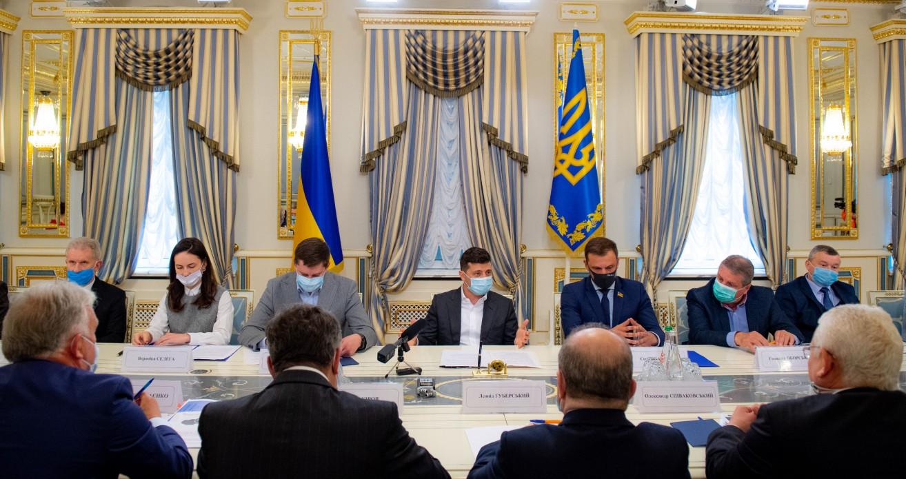 встреча Зеленского с представителями УВО.