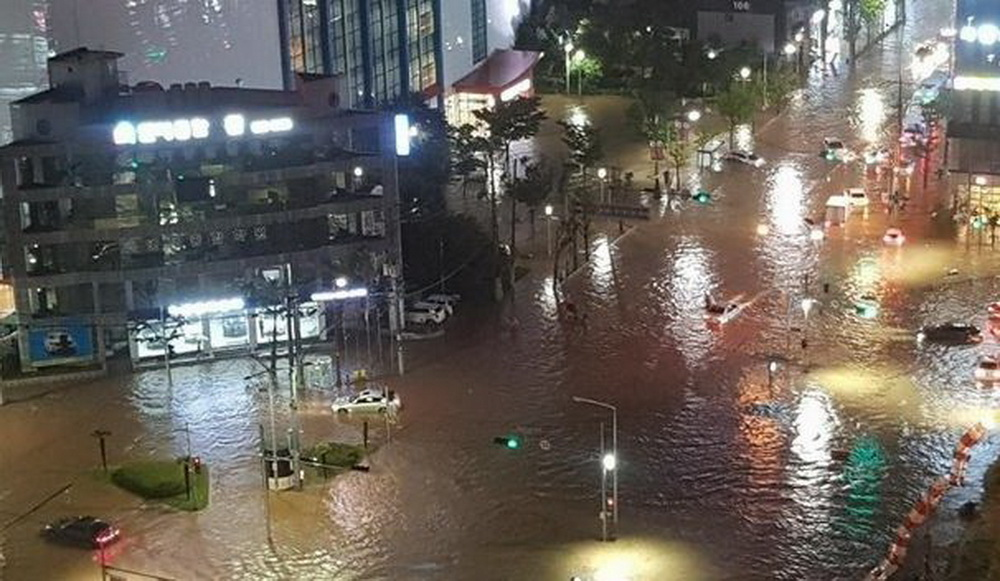 наводнение в Южной Корее