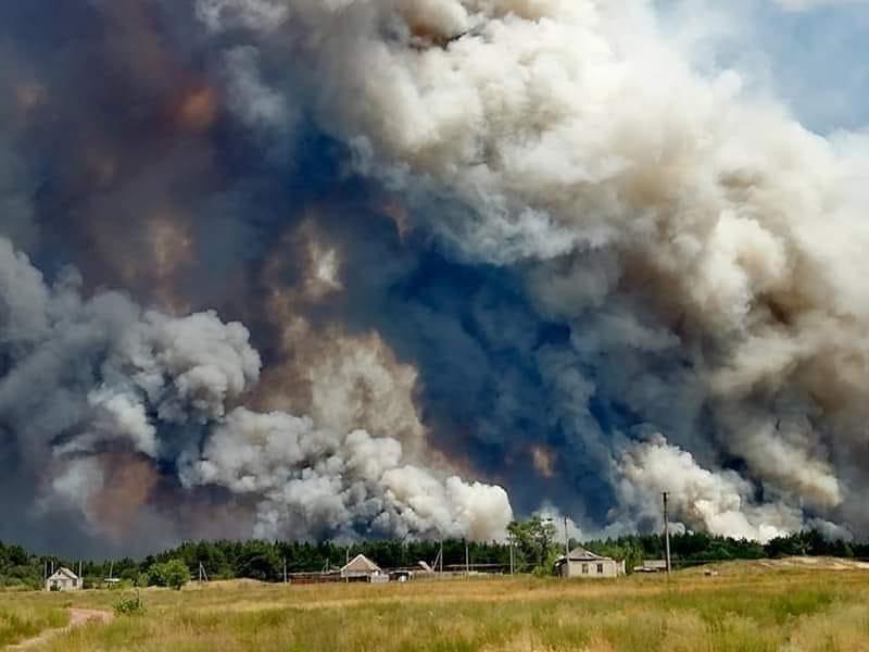 пожар Луганщина