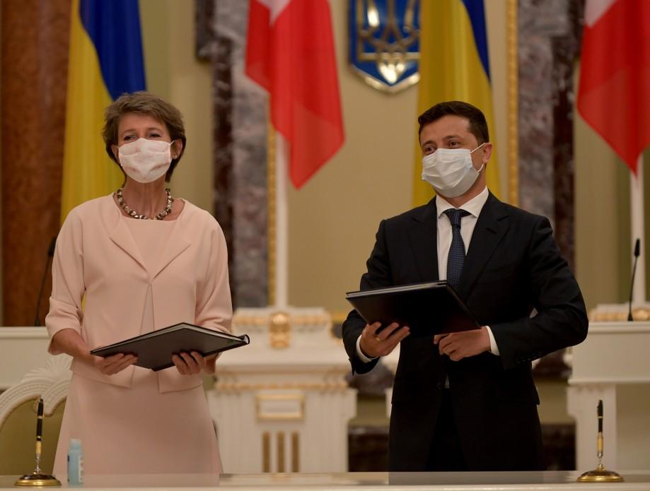 Президент Швейцарии и Украины.