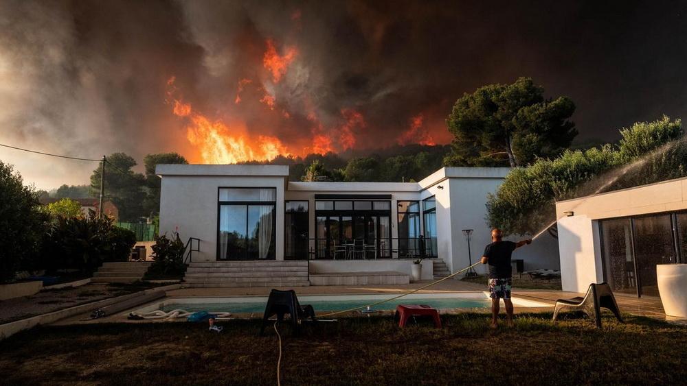 Франция пожары