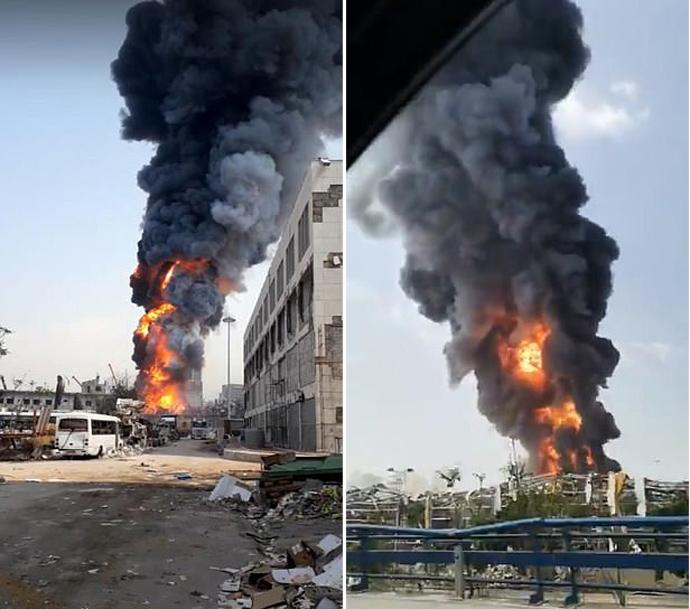 пожар в Бейрут