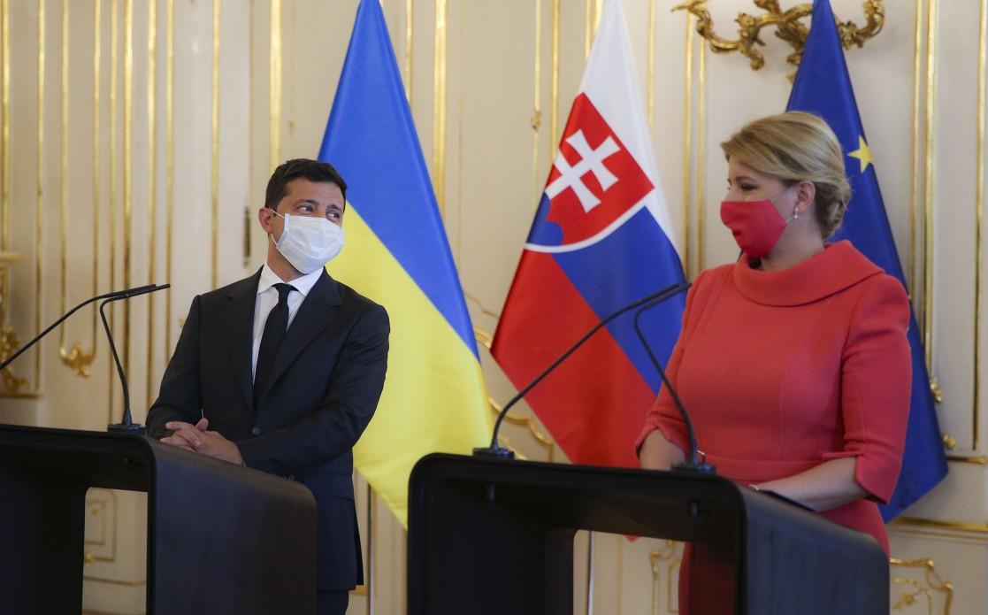 Зеленский с президентом Словакии.