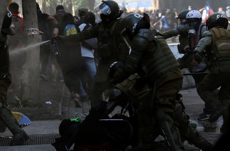 демонстрации в Чили