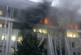пожар в Бишкеке