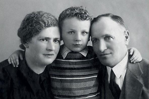 Жванецкий  сродителями