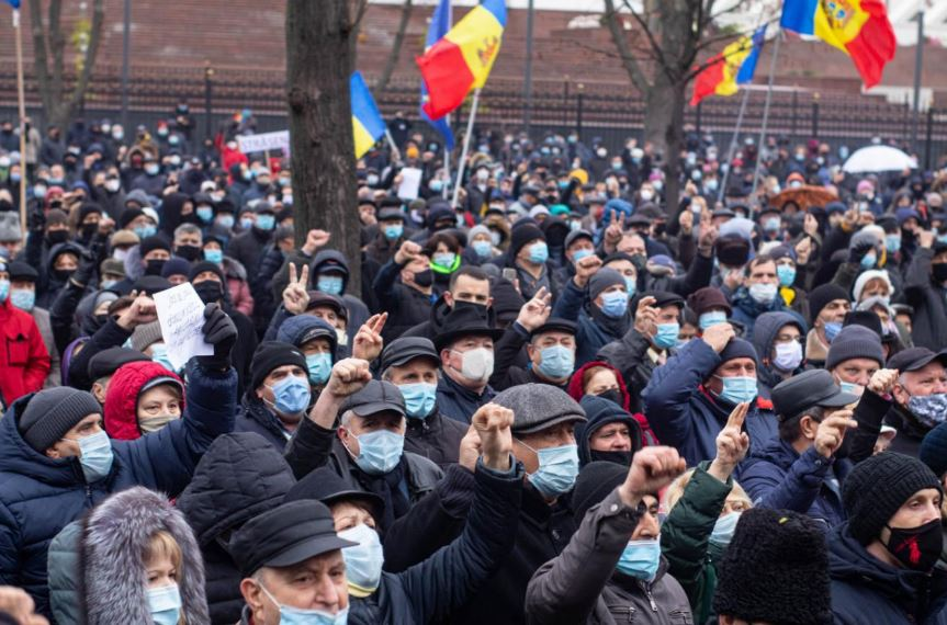 Акции протеста Молдова