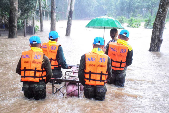 В Таиланде – наводнения, есть жертвы, Хорватия уходит под воду