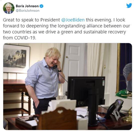 Байден поговорил с первым европейским лидером, это – Джонсон