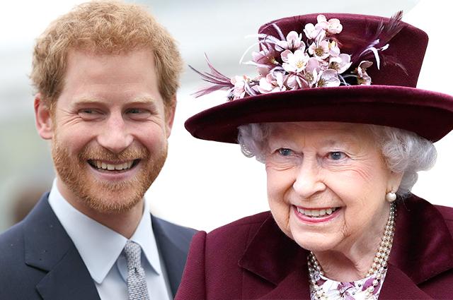 Принц Гарри и королева