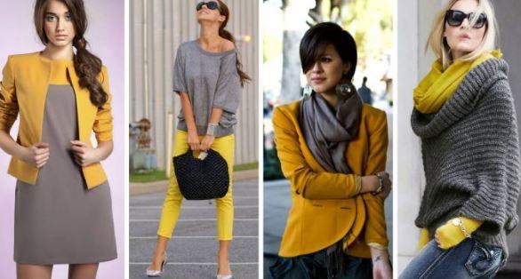 Серый и жёлтый
