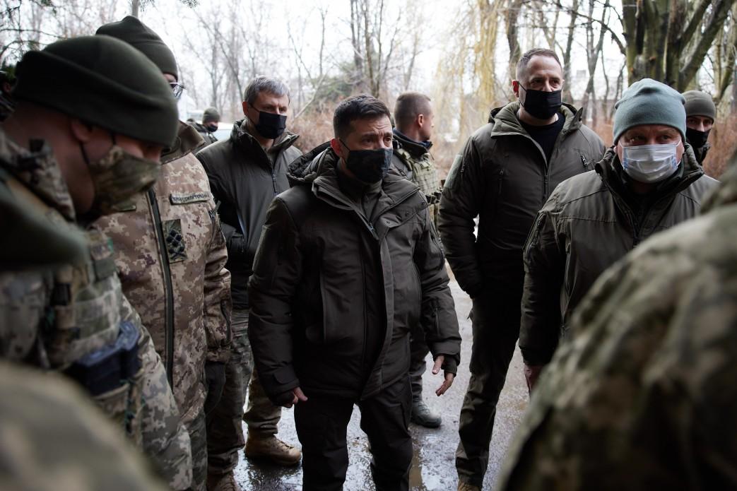 Зеленский на Донбассе.