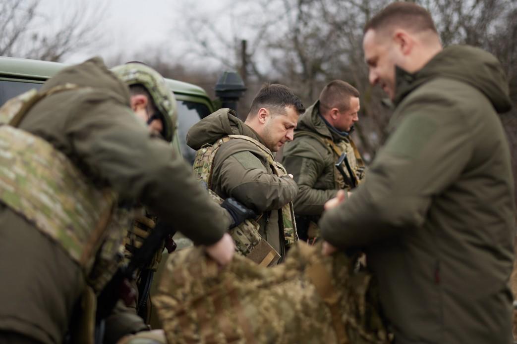 Зеленский визит на Донбасс.