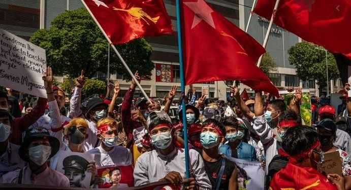Мьянма протесты