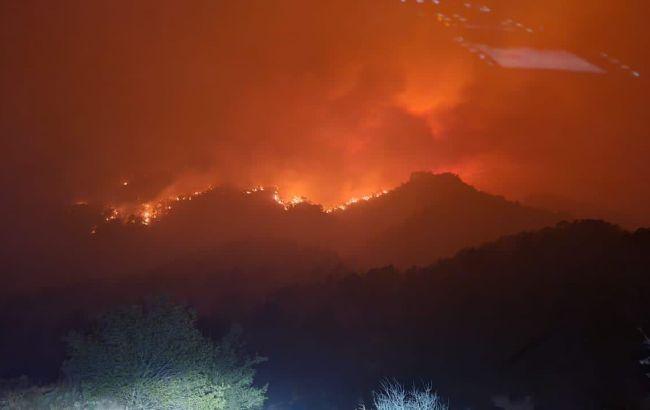 пожар в Мексике