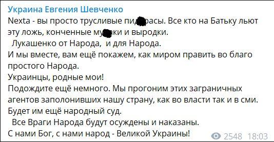 Шевченко об оппозиции