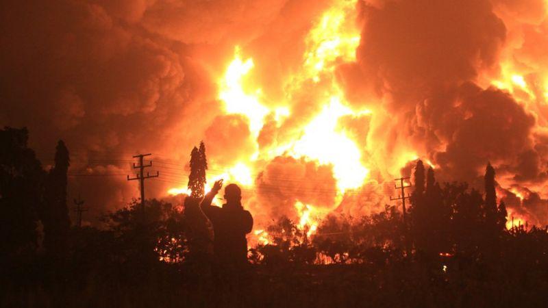 завод пожар